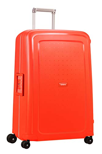 Samsonite S'Cure - Spinner L Maleta, 75 cm, 102 L, Rojo (Fluo Red Capri)