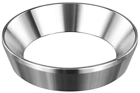 VIENESSO Espresso-Trichter für Siebträger 51 mm - Edelstahl Dosierring zum exakten befüllen des Kaffeepulver, Portafilter Fülltrichter zum präzisen tampern + Barista E-Book