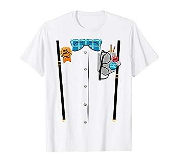 Halloween Nerd Suspenders Plaid Bow Tie Costume T-Shirt