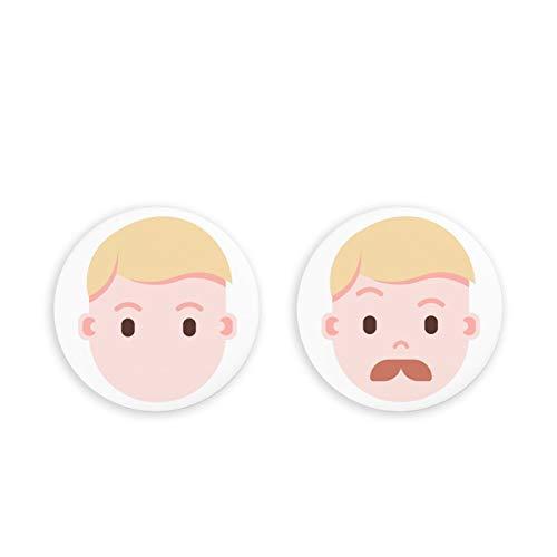 Imanes fotográficos para refrigeradorImanes para refrigerador, Paquete de 2 imanes para refrigerador de Emoji Humano, Juego de 2 imanes para Oficina