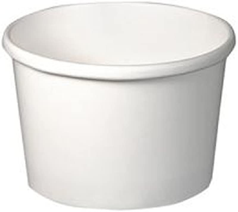 SOLO H4085 2050 Flexstyle Double Poly Paper Containers 8 Oz White 25 Pack 500 Containers Per Case 25 Per Tube