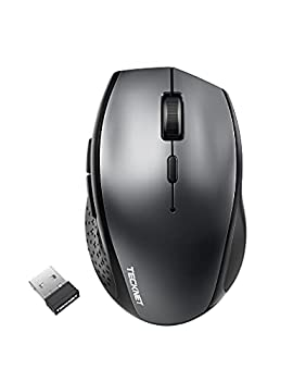 Wireless Bluetooth Mouse Tri-Mode  BT 5.0/3.0+2.4Ghz  with Nano Receiver Portable Wireless Mice 6 Adjustable DPI 6 Buttons for Notebook PC Laptop Computer MacBook