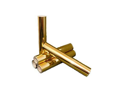 Creativ Papier Metallic Transferfolie, 220 mm breit, 20 m lang, Gold-Metallic Hochglanz 205-301020