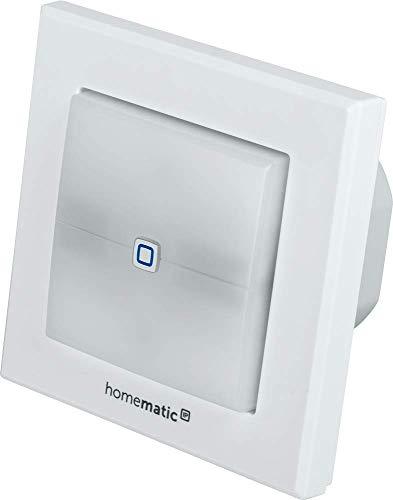 Homematic IP Smart Home Schaltaktor für Markenschalter – mit Signalleuchte, schaltet Geräte im Smart Home auch per App, 152020A0
