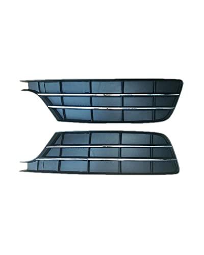 WWWFZS ABS Negro y Cromo Rejillas de Parachoques Delantero Inferior Abeto para Audi A7 2015 2016 2017 2018 Rejilla de luz antiniebla Marco de lámpara antiniebla(Color:1pair 2pcs)