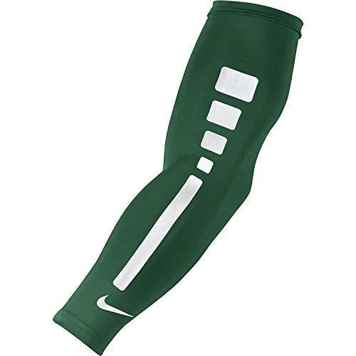 Nike Erwachsene Pro Elite Basketball ärmel, Unisex, grün/weiß, Large/X-Large
