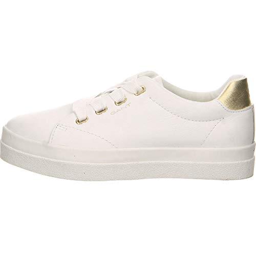 GANT FOOTWEAR AURORA, Damen Slip On Sneaker, Weiß (bright white G290), 40 EU (6.5 UK)
