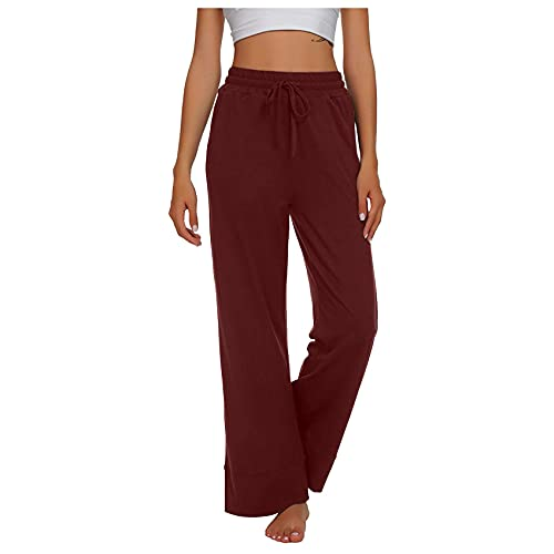 Jogger Pantalones De Yoga para Mujer Pantalones De CháNdal CóModos De Color SóLido Casual Pantalones Largos De Yoga Pantalones