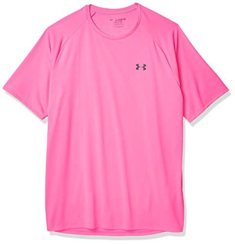 Under Armour Men's Tech 2.0 Short Sleeve T-Shirt , Pink Surge (687)/Black , Large