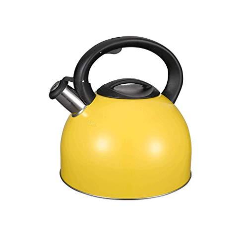 DBL Bollitore giallo limone bollitore in acciaio inox 304 moda 4L induzione fornello a gas universale fischietto automatico Bollitore