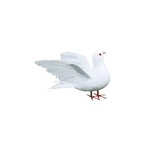EXCEART Realista Pájaro Paloma Emplumada Modelo Accesorios de Fotografía Educativo Animal Figura...