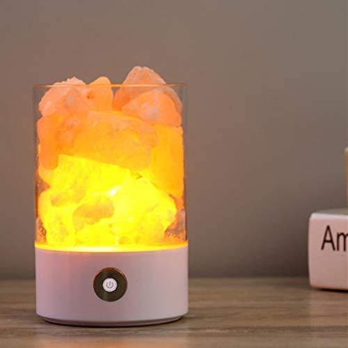 Smart Home Creatieve Zout Lamp Boek Student Tafel Decoratie USB Sfeer Lamp Slaapkamer met Slapende Led Nachtlampje USB Plug Zwart NBHUYT