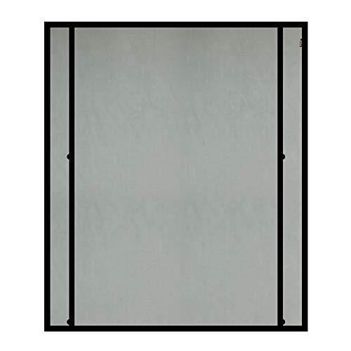 MAGZO Magnet Screen Door Curtain 38x82in Black, Upgrade Right Side Opening Door Mesh Convenient Handsfree Magnetic Screen Curtain Fits Door Size up to 38'x82'