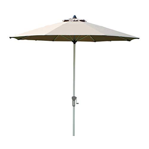 Sombrilla de jardín Redonda/sombrilla de Aluminio para Exterior, 2,7 m / 8,9 pies Tela para sombrilla extraíble y Lavable, Resistente al Sol y a la Lluvia (Burdeos/Verde Oscuro/Caqui)