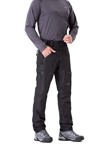 Trailside Supply Co.Men's Insulated Ski Pant Fleece-Lined Waterproof Snow Pants (Black,M)