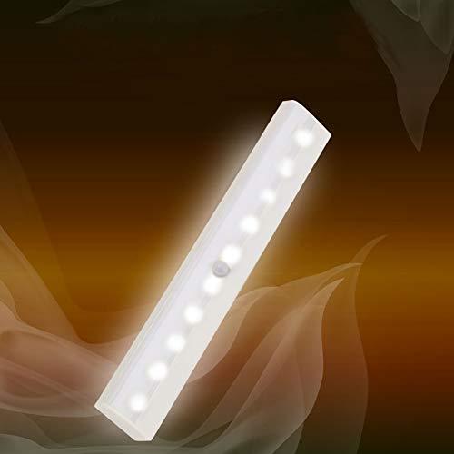LED Bewegungsmelder Schrankleuchten, Kleiderschrank Lampen Unterbauleiste Beleuchtung Küchenlampen, Kabinett Nachtlicht Lichtleisten Spiegelschrank für Innen außen Schrank Küche, Batterie betrieben