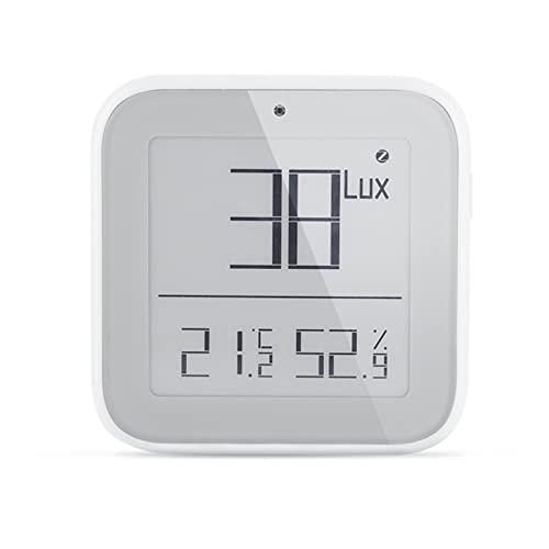 TENKY Tuya Zigbee Smart Luminosità Igrometro Termometro Sensore di Umidità con La Notifica di Allarme Senza Fili Display Digitale (Gateway Non È di Includere)