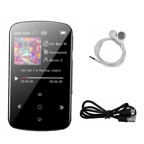 LWWL-Accessories MP3 Player Bluetooth Portable Music Player Radio Recorder Full Touchscreen with FM Radio 32GB Black
