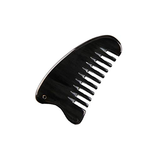 SUPVOX Ox Horn Combs Guasha Massager Anti-Static Comb Scraping Board Hair Smoothing Comb for Travel Home