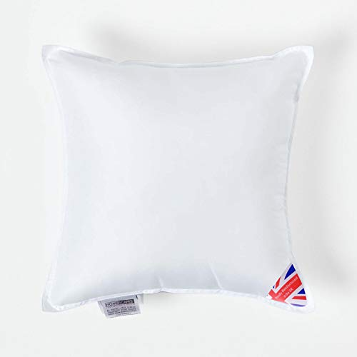 """Homescapes Super Microfibre Cushion Pad 45 x 45 cm (18"""" x 18"""") Inner Insert Hypoallergenic Synthetic Cushion Filler Machine Washable"""