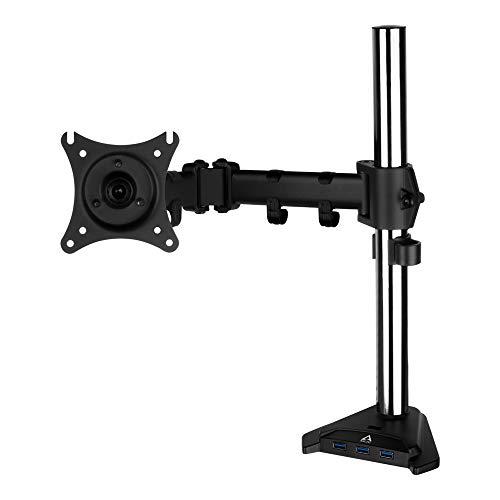 """ARCTIC Z1 Pro (Gen 3) - Brazo de Soporte para Monitor de hasta 34""""/38"""" Ultrawide y Máximo 15 Kg de Peso, USB Hub para 4 Puertos con Micro USB, Rotación 360º, Ajuste Fácil - Negro"""