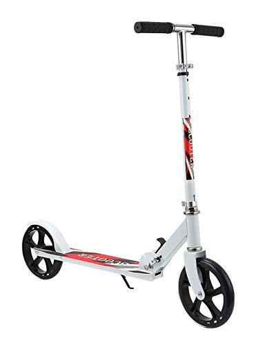YF-Mirror Patinete Freestyle para Adolescentes - Patinete Pro Stunt Kick - Patinete de 2 Ruedas con Manillar Ajustable con Barra en T - Patinete Plegable para Adultos con Plataforma Antideslizante