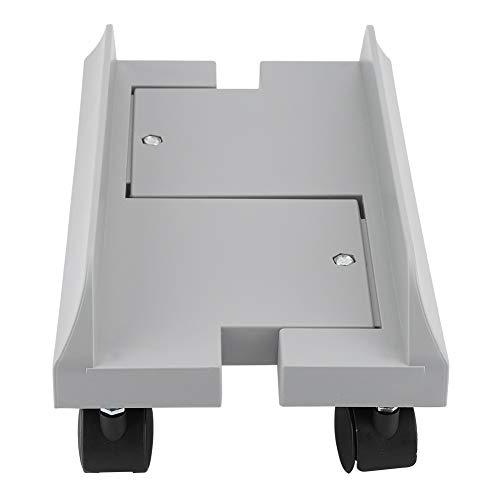 Kfines CPU Stand - Removable Mobile Desktop Tower Computer Bodenständer, Computergehäuse Ständer Halter Halterung Desktop Mainframe Lagerregal mit Bremse (Farbe : Grau)
