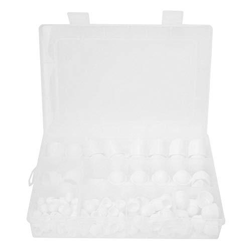 Schraubenabdeckungen Schraubkappen, M4 M5 M6 M8 M10 M12 Sechskantmutter Befestigungselemente Gummi-Hutmutter-Kit, 145-tlg, Mit Aufbewahrungsbox(Weiß)