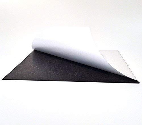 Eisenfolie - Ferrofolie selbstklebend DIN A3-0,6mm Stark - 297mm x 420mm x 0,6mm selbstklebend - Haftgrund für Magnete - Magnetfolie
