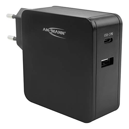 ANSMANN 2-Port USB Ladegerät 60W - USB C mit Quick Charge 3.0 & Power Delivery PD Ladegerät mit intelligenter Ladesteuerung für Smartphone, Tablet, Laptop Charger