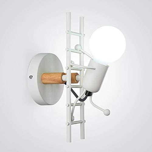 ALLOMN Aplique de pared Vintage, Dormitorio Lámpara de Noche Lámpara Retro Industrial Decoración Moderna Linterna de Metal Decoración Aplique de Pared E27 Base (Bombillas no Incluidas) ⭐