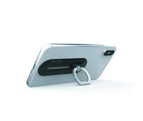 【日本正規代理店】AAUXX(オークス)iRingSlideSingleアイリングスライドシングルスマホ落下防止セーフティグリップ&ポータブルスタンドワイヤレス充電対応(シルバー)UMS-IR13SLSSL