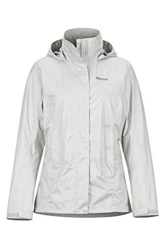 Marmot Damen, PreCip Eco Jacket Hardshell Regenjacke - winddicht wasserdicht atmungsaktiv, Platinum, XXL