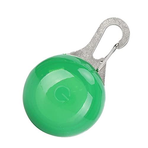 Jeanoko Colgante para mascotas brillante, material resistente al agua, collares de perro iluminados, proporciona visibilidad para perros adultos para cachorros (verde)