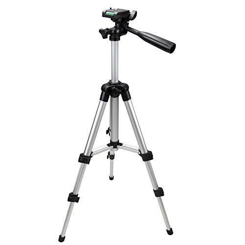 Subtel® Leichtes Kamera Stativ als Fotostativ oder Videostativ 0.35m - 1.06m kleines Reisestativ Tragetasche Wasserwaage beweglichen Kopf Dreibeinstativ ausziehbar für Camcorder und Videocamera Tripod