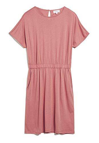 ARMEDANGELS TADINAA - Damen Kleid aus Tencel™ Lyocell Mix XL Cinnamon Rose Dresses Jersey, Kleider Jersey Rundhals Loose fit