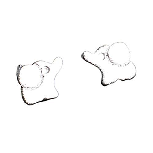 Shulishishop Pendientes de botón Pendientes Pendientes Elegantes Pendientes de la Chica Pendientes de Acero Inoxidable Encantador Pendientes Pendiente de la Boda