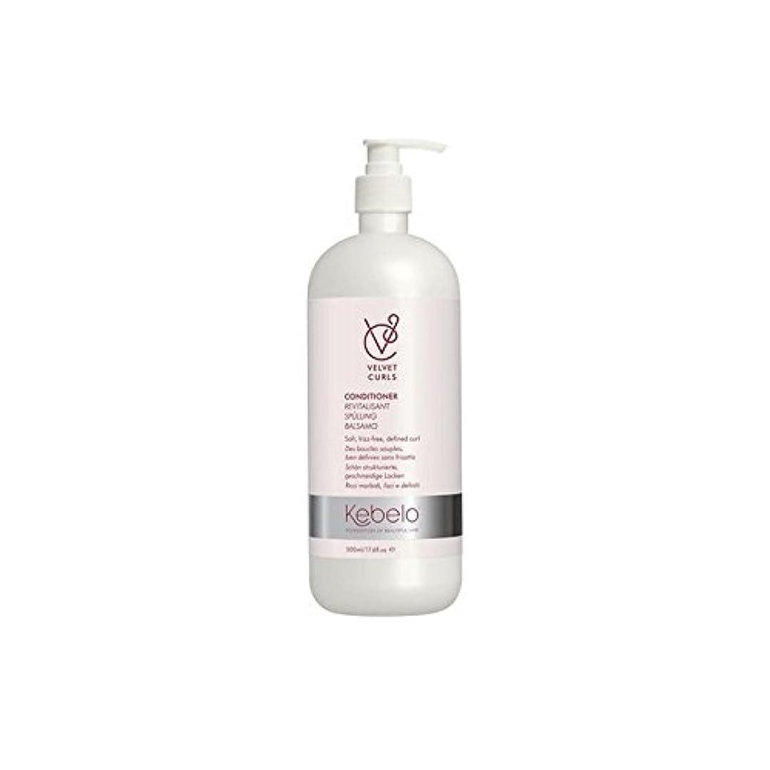 サドル天窓費用ベルベットのカールコンディショナー(500ミリリットル) x2 - Kebelo Velvet Curls Conditioner (500ml) (Pack of 2) [並行輸入品]