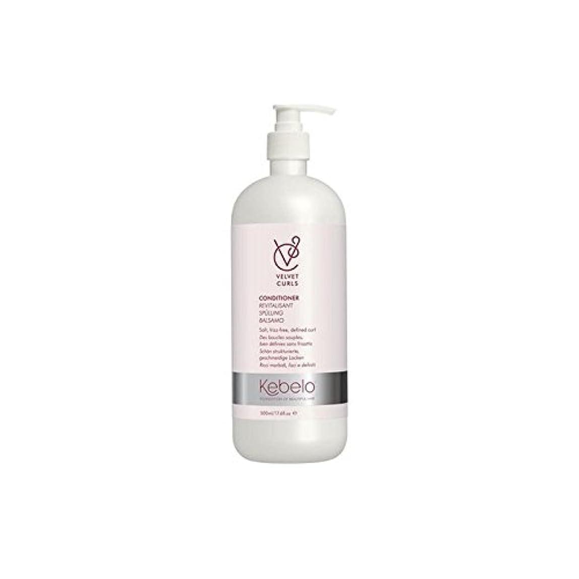 ペルメル感じイライラするKebelo Velvet Curls Conditioner (500ml) - ベルベットのカールコンディショナー(500ミリリットル) [並行輸入品]