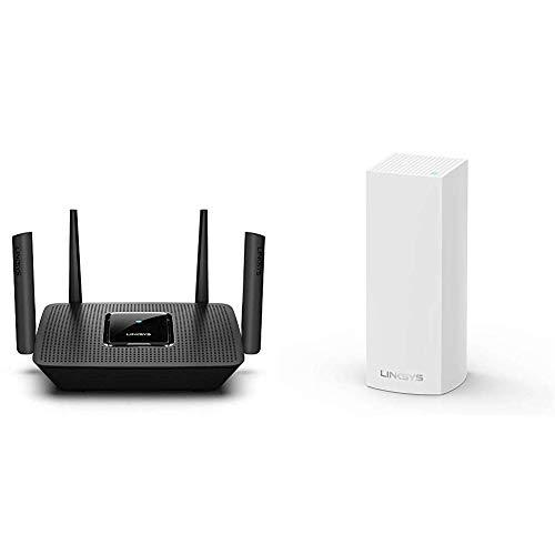 Linksys AC2200 - Router WiFi MU-MIMO tribanda MAX-Stream + Velop AC2200 - Sistema WiFi Intelligent Mesh
