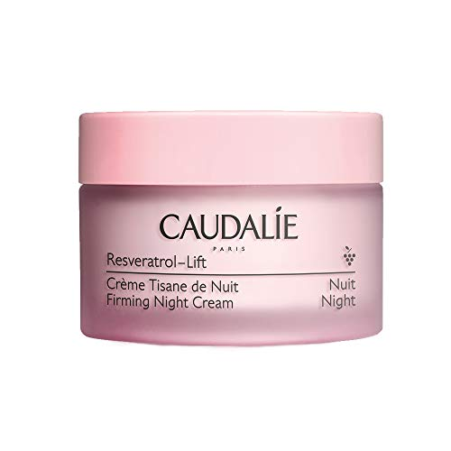 Caudalie Resveratrol-Lift Firming Night Cream: Anti-Aging Moisturizer with Resveratrol, Hyaluronic Acid & Vegan Collagen Alternative - 1.7oz