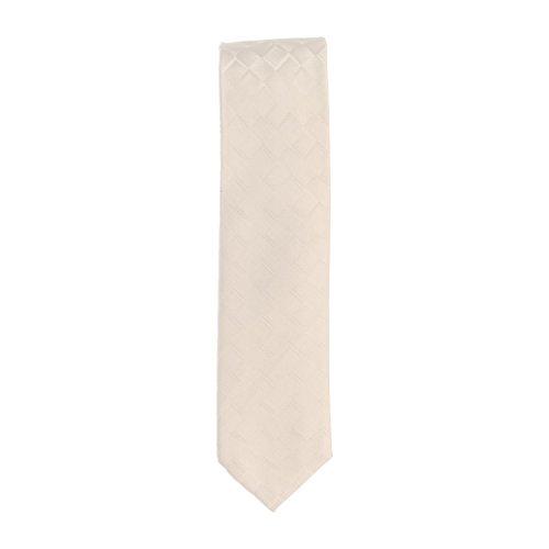 Silk Ties smalle stropdas klassieke zijde clubdas champagne ruitmotief 6 cm