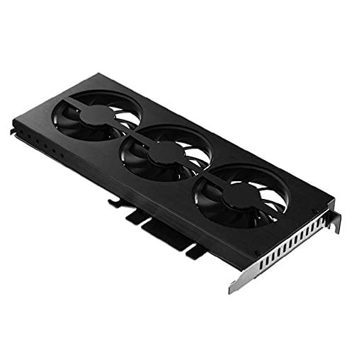xllLU VF-1 tarjeta gráfica ventilador de refrigeración RGB iluminación soporte Aura placa madre pantalla video tarjeta disipador calor radiador para NVIDIA GT aura placa madre