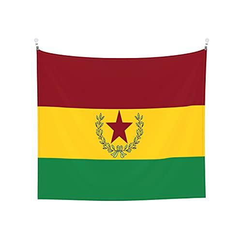Sozialistische Bolivien-Flagge Tapisserie Wandbehang Tarot Boho Beliebte Mystic Trippy Yoga Hippie Wandteppiche für Wohnzimmer Schlafzimmer Wohnheim Home Decor Schwarz & Weiß Stranddecke