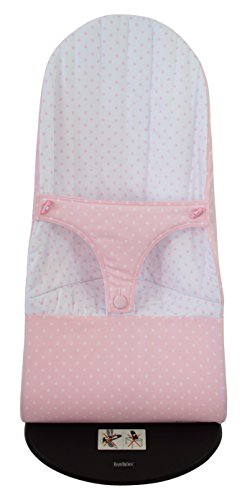 Housse pour hamac BabyBjörn Balance Soft réversible (remplace les housses originales) étoiles roses