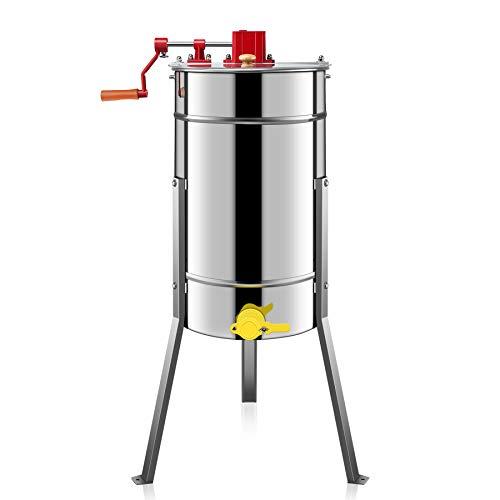 Trommeldurchmesser 38 cm Honigschleuder Manuell 3-Waben Lebensmittelechter Edelstahl Manuell Honig-Extraktor für Bienenzucht Bee Einklang mit Cover