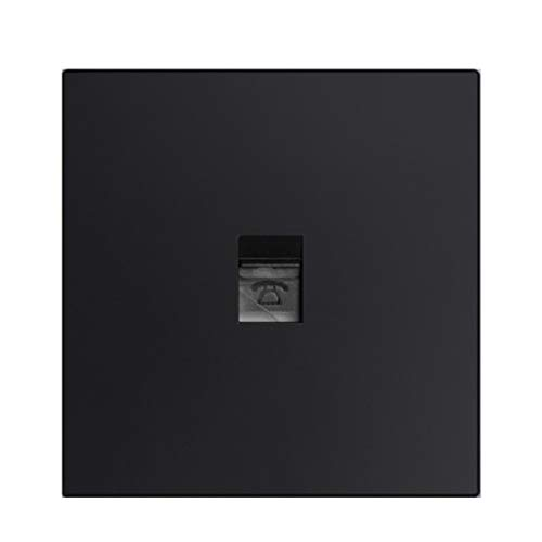 Interruptor De Enchufe Hogar Hotel Pasillo Dormitorio Decoración TV Teléfono Ordenador Enchufe De Pared Tipo De Metal Negro 86 Impermeable (Color : Black, Size : Phone)