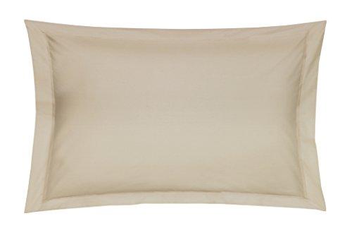Blanc des Vosges Uni Satin Taie Coton Chanvre 50 x 75 cm