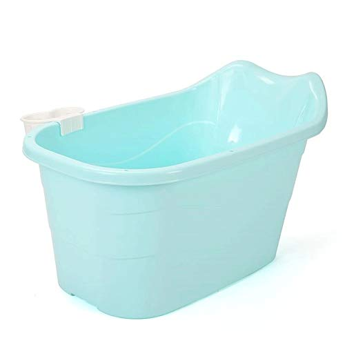 Find Cheap ZQY Folding Bath, Children's Large Swimming Bathtub Adult Portable Bathtub Home Outdoor G...