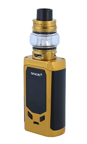 Smok R-Kiss E Zigarette Set | R-Kiss 200 Watt | TFV8 Baby V2 Verdampfer | 2x Baby V2 Heads - Farbe: gold-schwarz